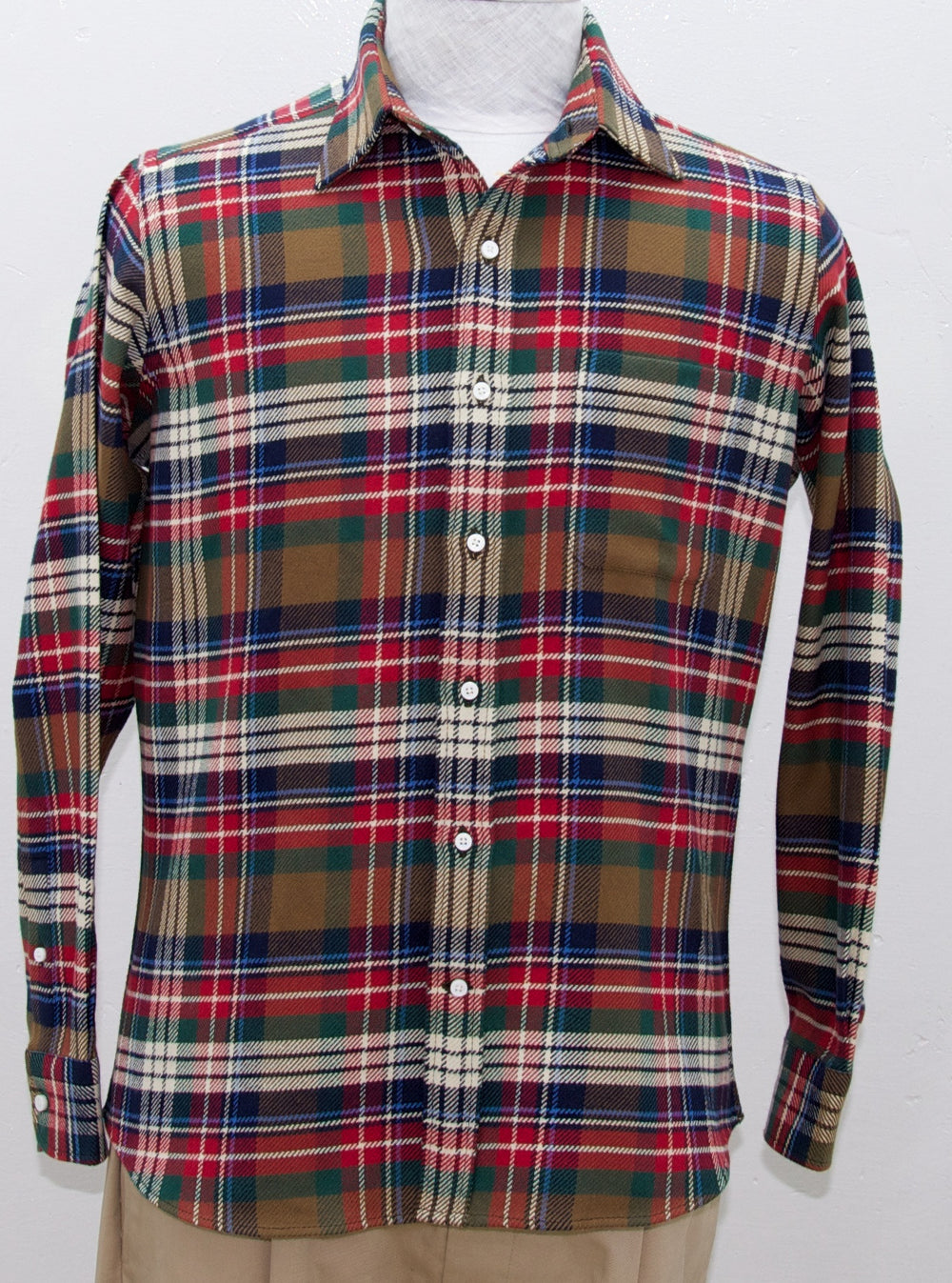 Brushed Cotton Flannel - Traditional Red Blue Green Checks