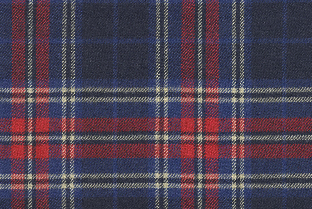 Red Blue Tartan - Twill Flannel