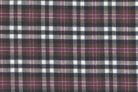 Brown Tartan - Twill Flannel