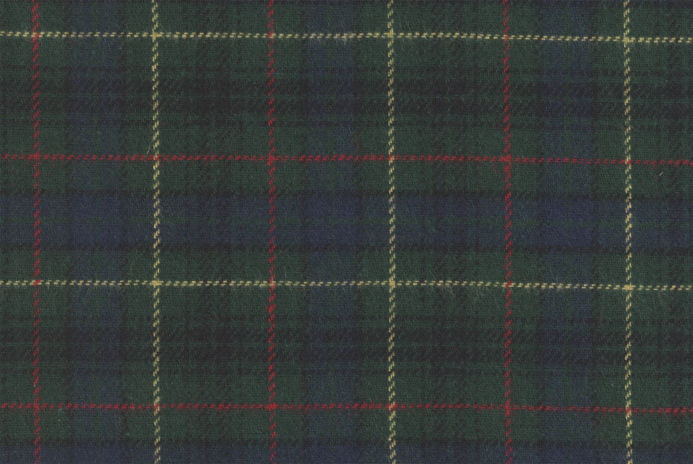Scottish Green Blue Tartan Flannel