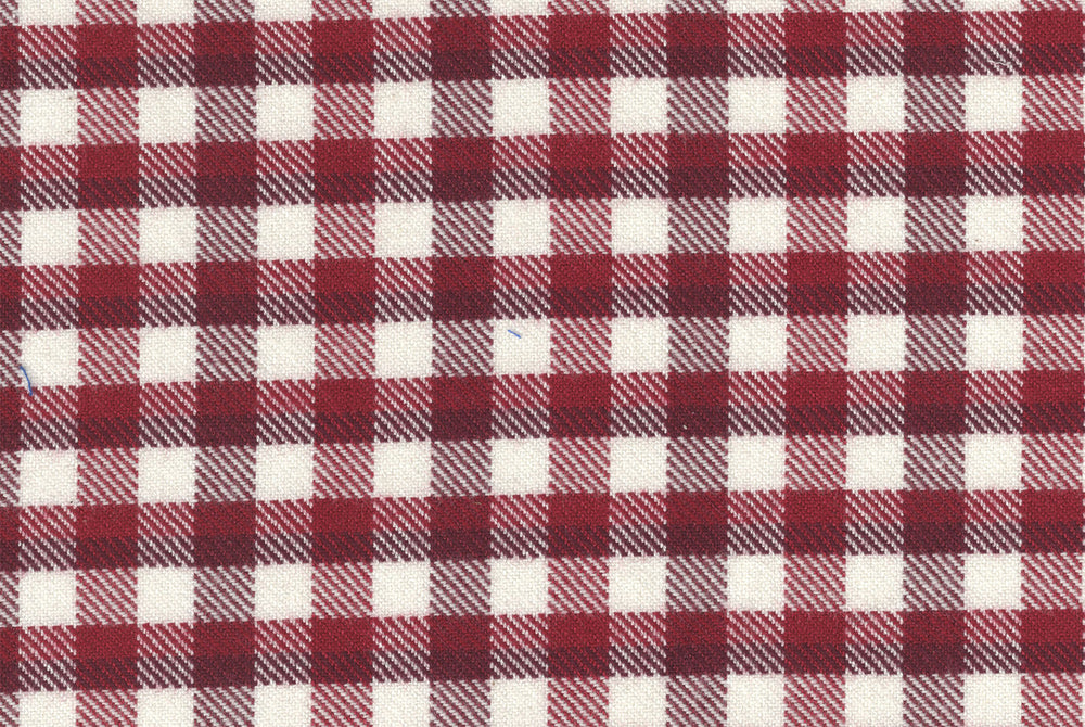 Maroon Gingham Flannel