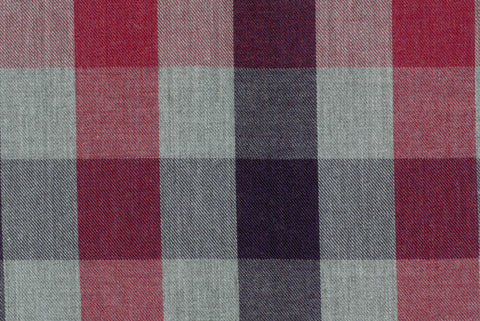 Grey Hemp - Large Gingham