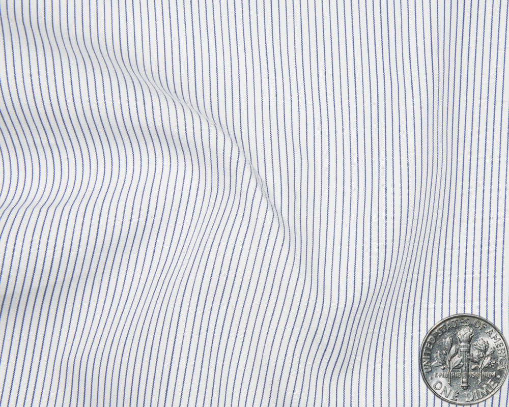 Summer Shirt:Blue Pin Stripes on White