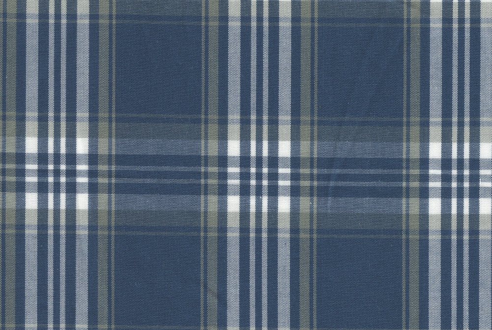 Navy Madras Plaid