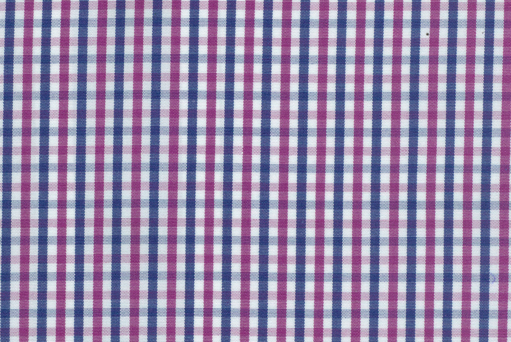 Mulberry Blue White Small Gingham