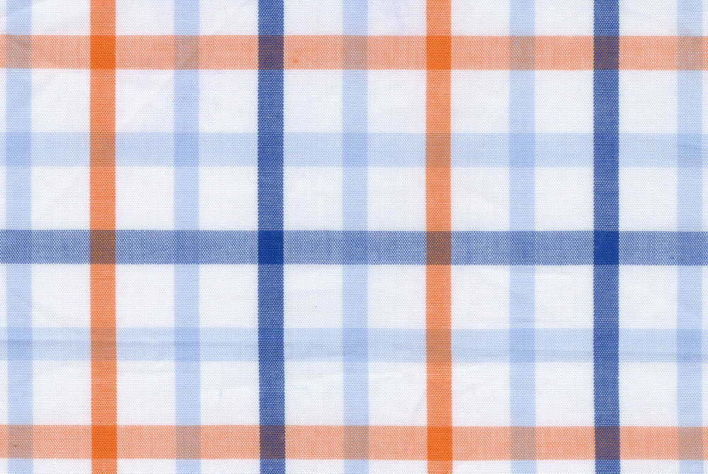 Summer - Orange Blue Big Tattersall