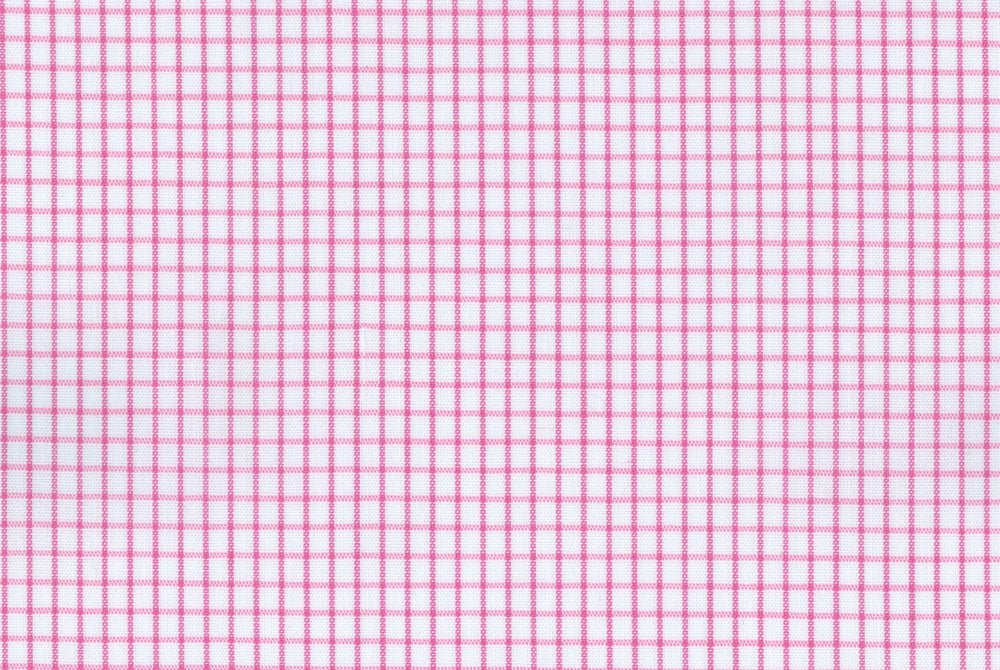 Easy-to-Iron Pink Micro Checks