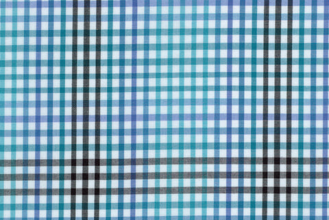 Shaded Blue Black Gingham