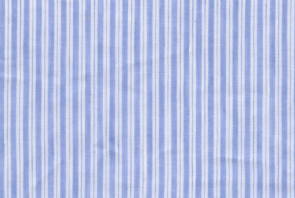 Linen Cotton - Blue White Pencil Stripes (110833089)