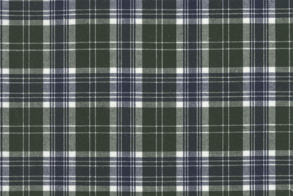 Green Blue Plaid - Medium-Heavy