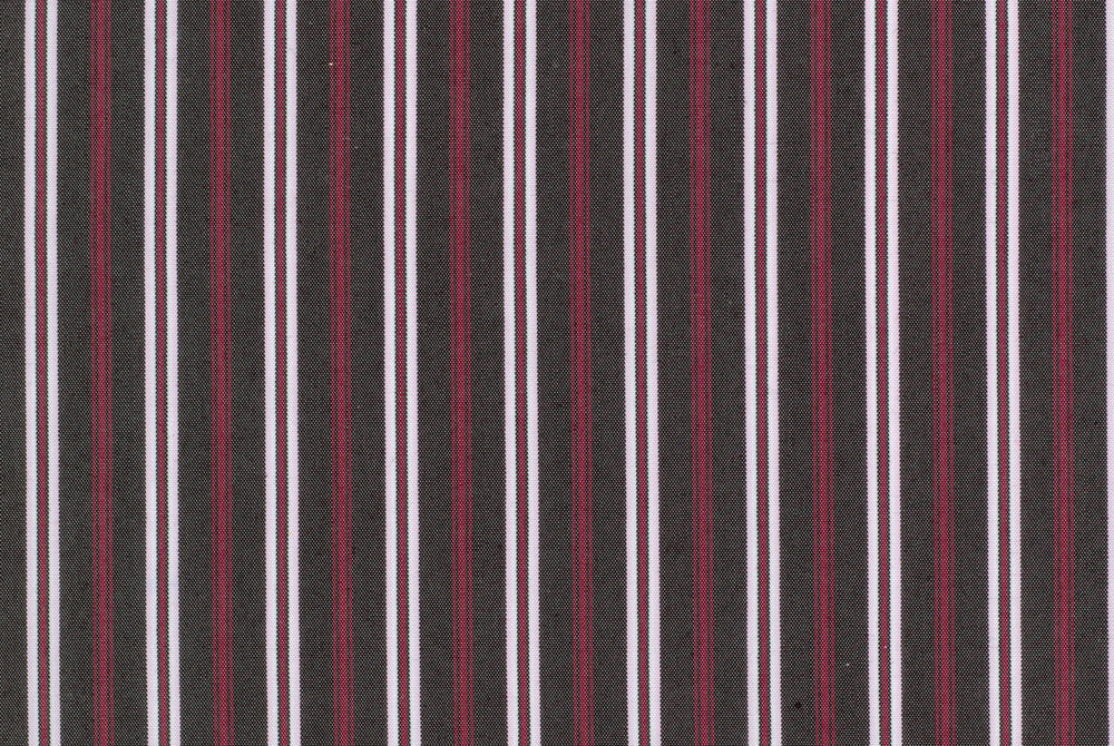 A Touch of Silk - Red Brown White Multi-Stripes