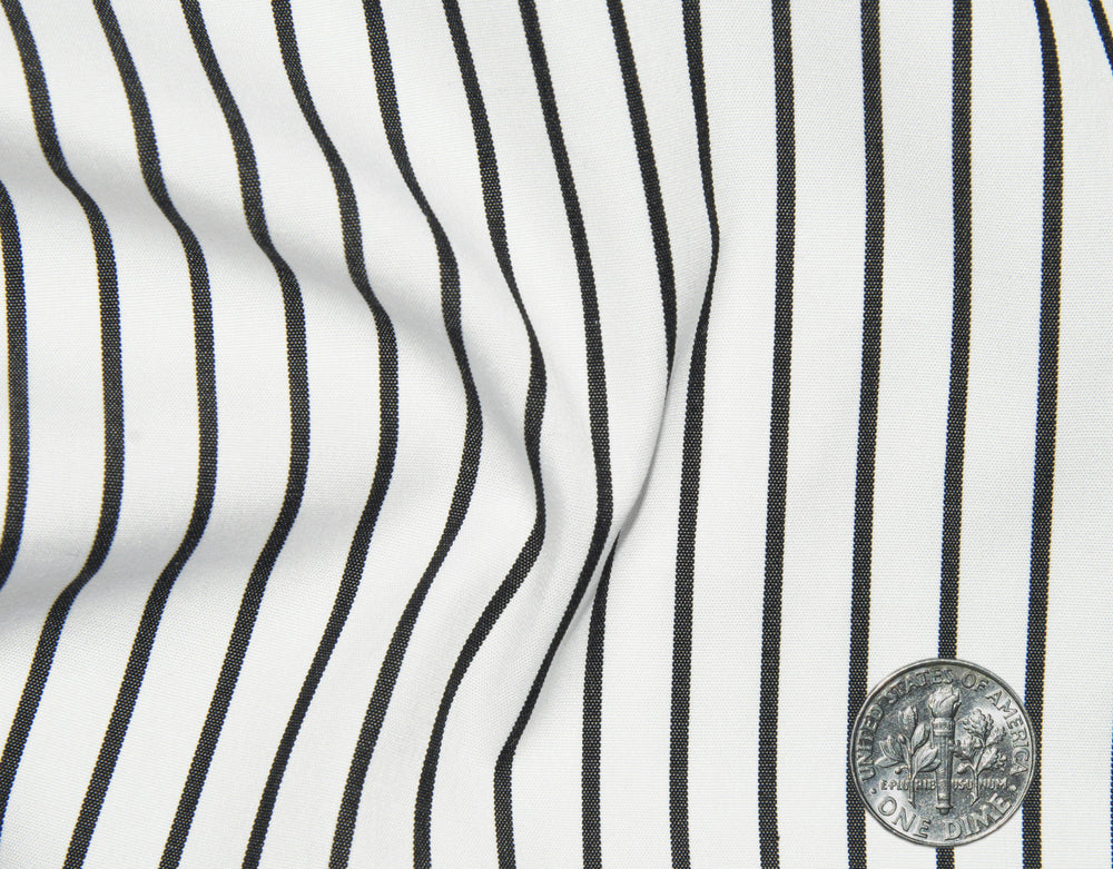 Black Pencil Stripes on White