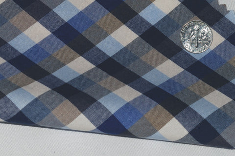 Brown Blue Navy Gingham