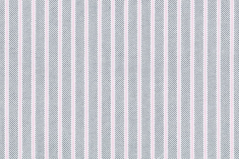 Pink Pencil Stripes on Grey Oxford