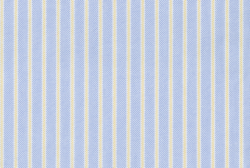 Yellow Pencil Stripes on Blue Oxford