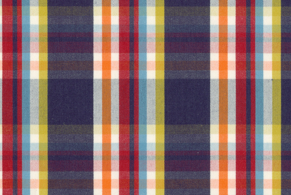 Navy Yellow Red Madras