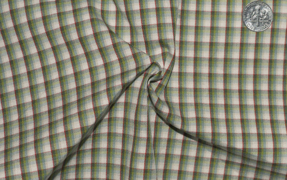 Green Shawdow Stripes Checks