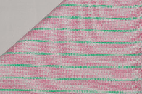 Orchid Pink Green Stripes Classic Oxford