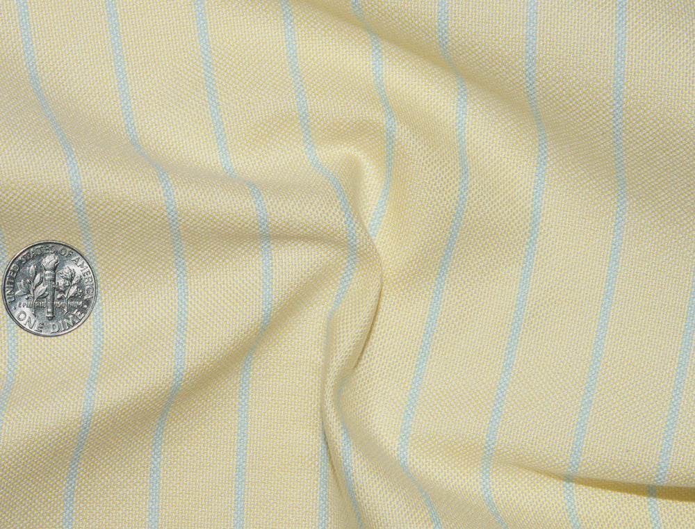 Classic Oxford: Blue Pencil Stripes on Yellow