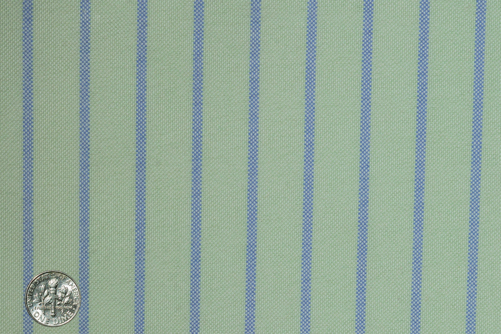 Classic Oxford Blue Dress-Stripes on Moss-Green