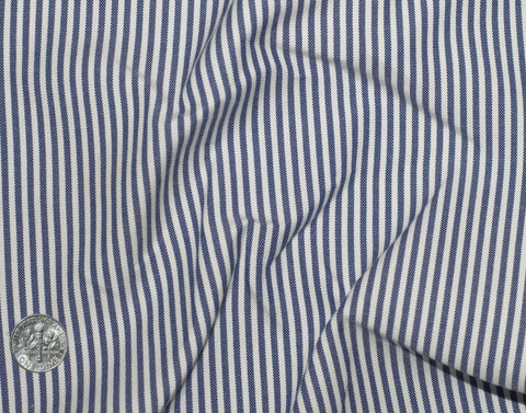 Indigo Dress Stripes Oxford
