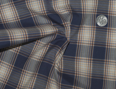 Blue Peach Tattersall Madras