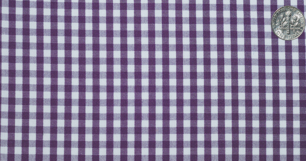 Purple White Gingham