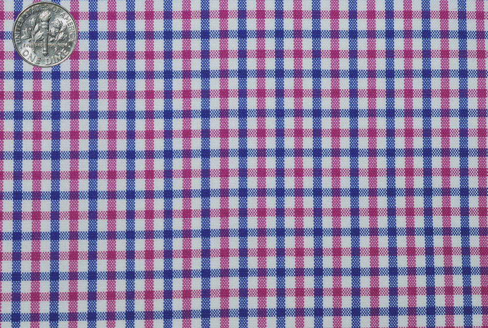 Pink Blue Small Gingham
