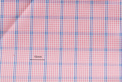 Red-Pink Blue Windowpane Checks