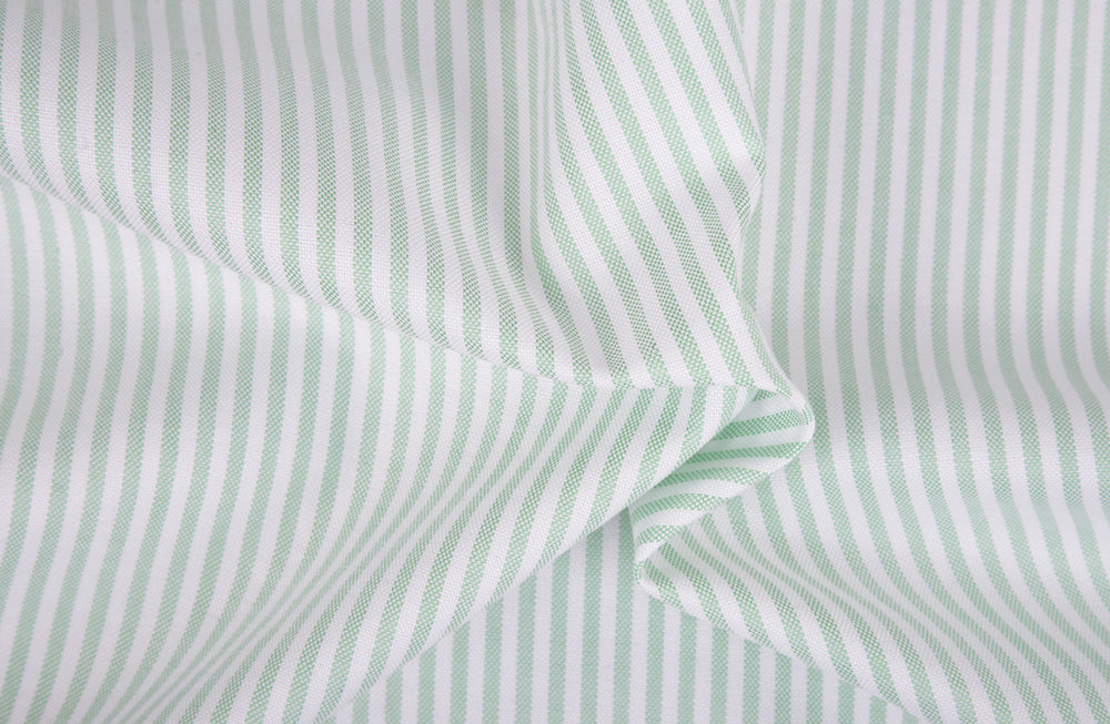 Classic Oxford: Light Green University Stripes