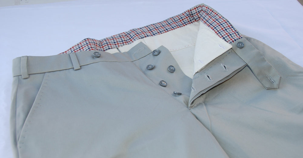 Grey Cotton Khaki - Chino