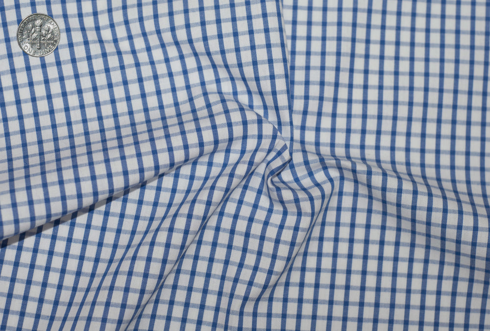 Friday Shirt: Blue Graph Checks