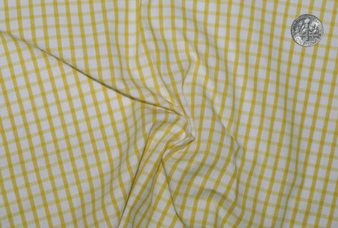 Friday Shirt: Yellow Graph Checks