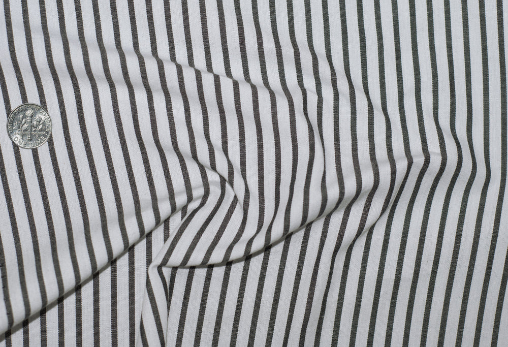 Friday Shirt: Black Pencil Stripes On White