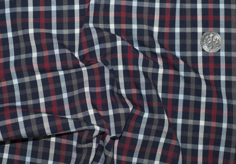 Friday Shirt: Red White Navy Tattersall