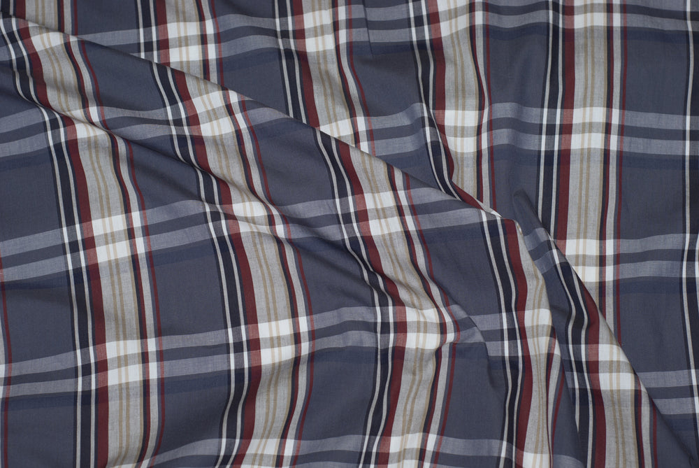 Grey Red White Madras