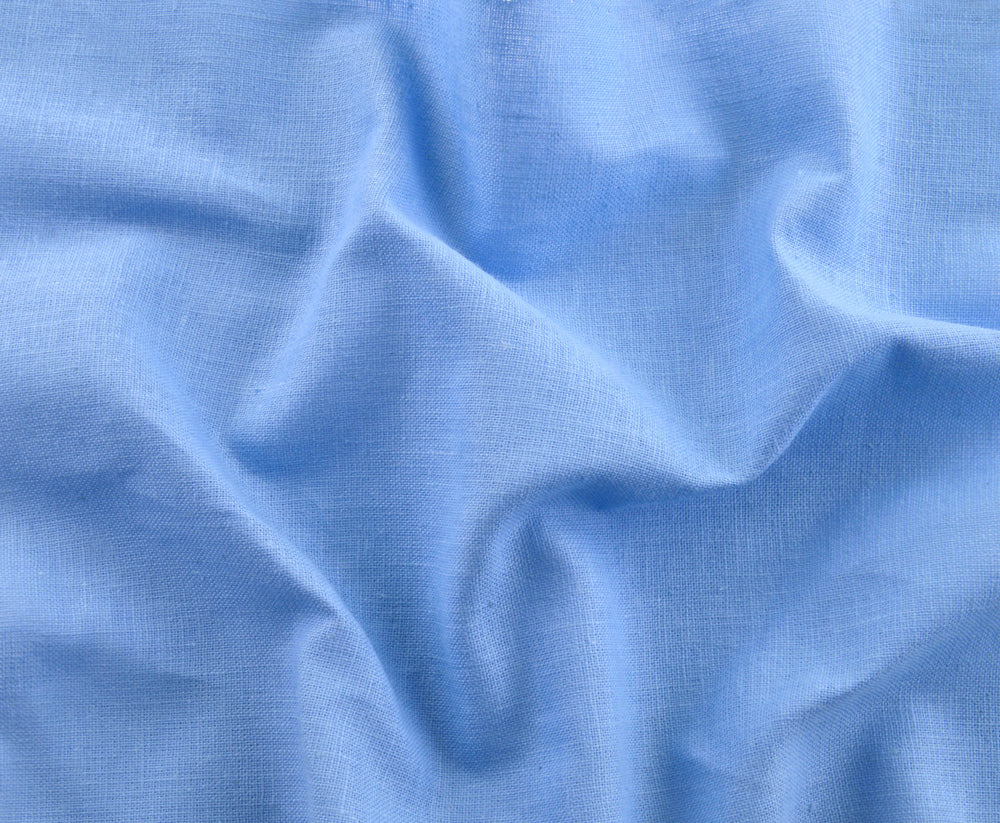 "Light Prussian Blue Fresco ""Madapolam"" Chambray"