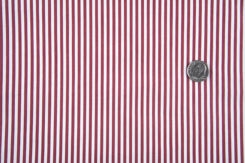Dark Red White Candy Stripes