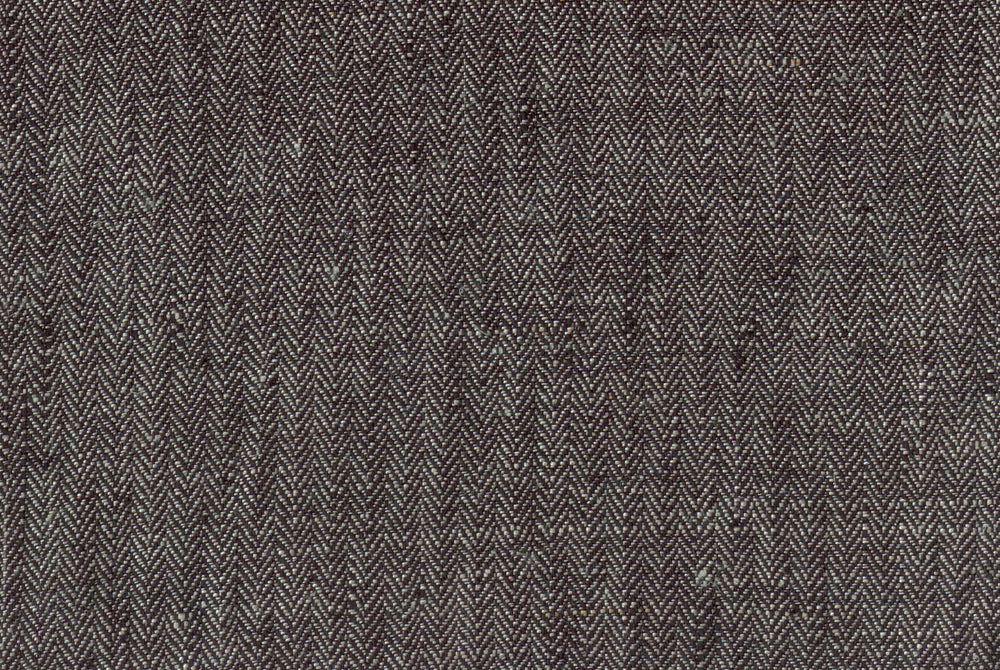 Dark Grey Small Herringbone Linen