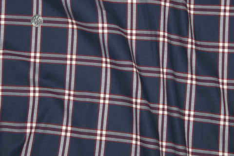 Red Navy Big  Tattersall Casual Shirt