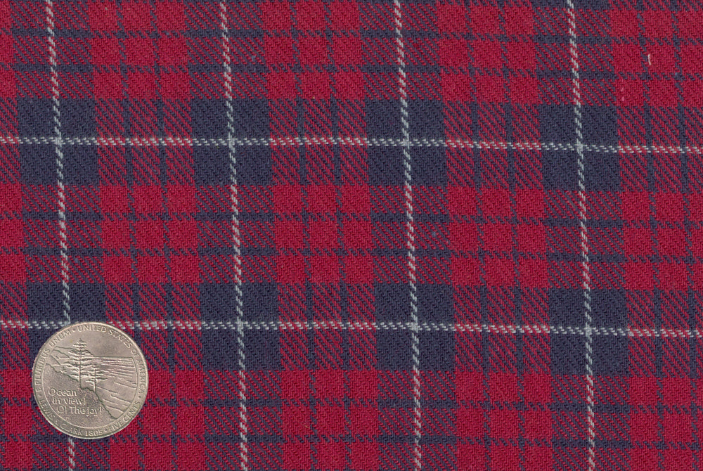 Red Navy Tattersall Flannel