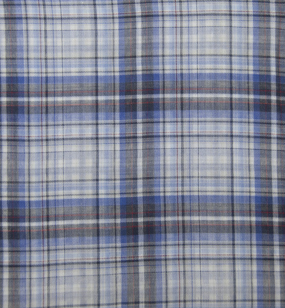 Soft Light Summer:Blue White Black Madras (269410729)