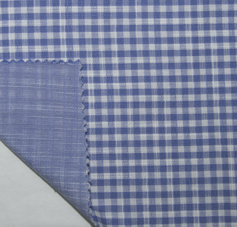 Soft Light Summer:Blue White Small Gingham Chambray