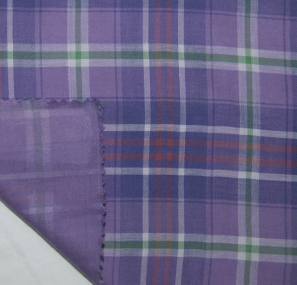 Soft Light Summer:Purple Blue Madras