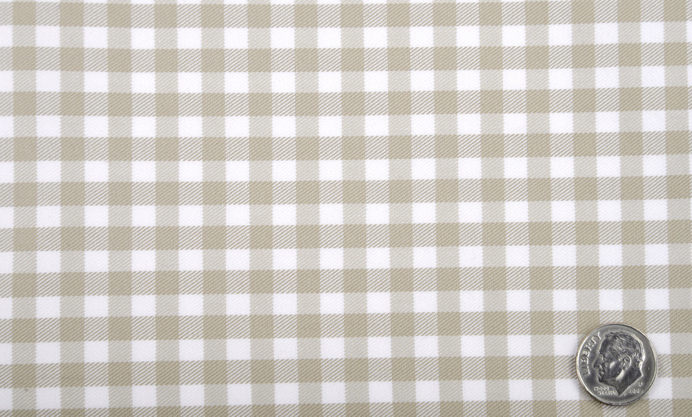 BROWN TWILL GINGHAM CHECKS