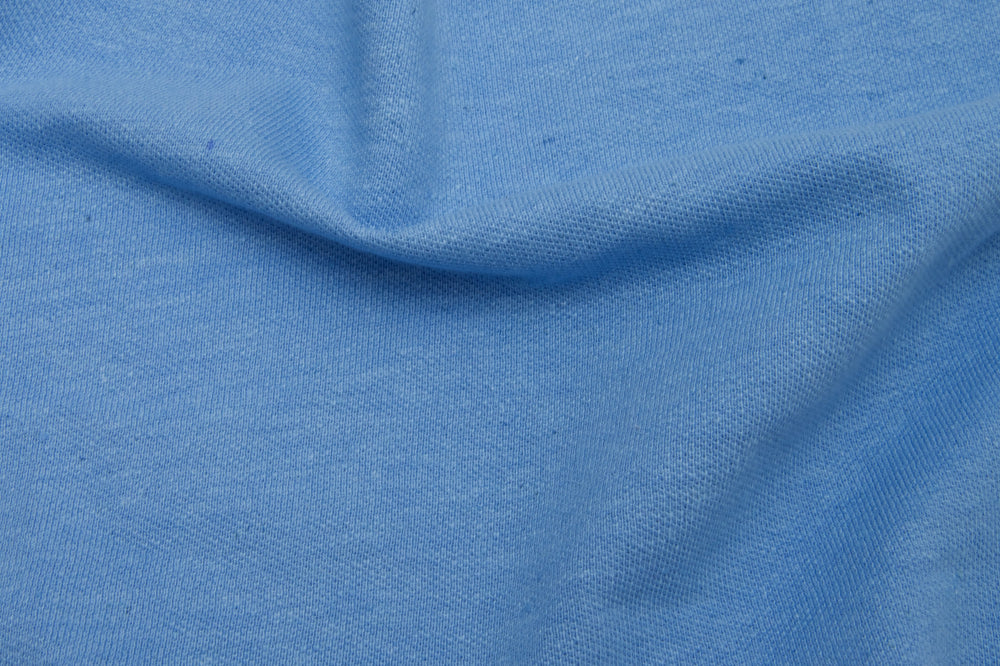 Steel Blue Cotton Polo T-shirt