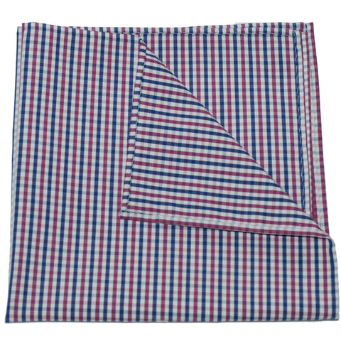 Pocket Square - Mulberry Gingham