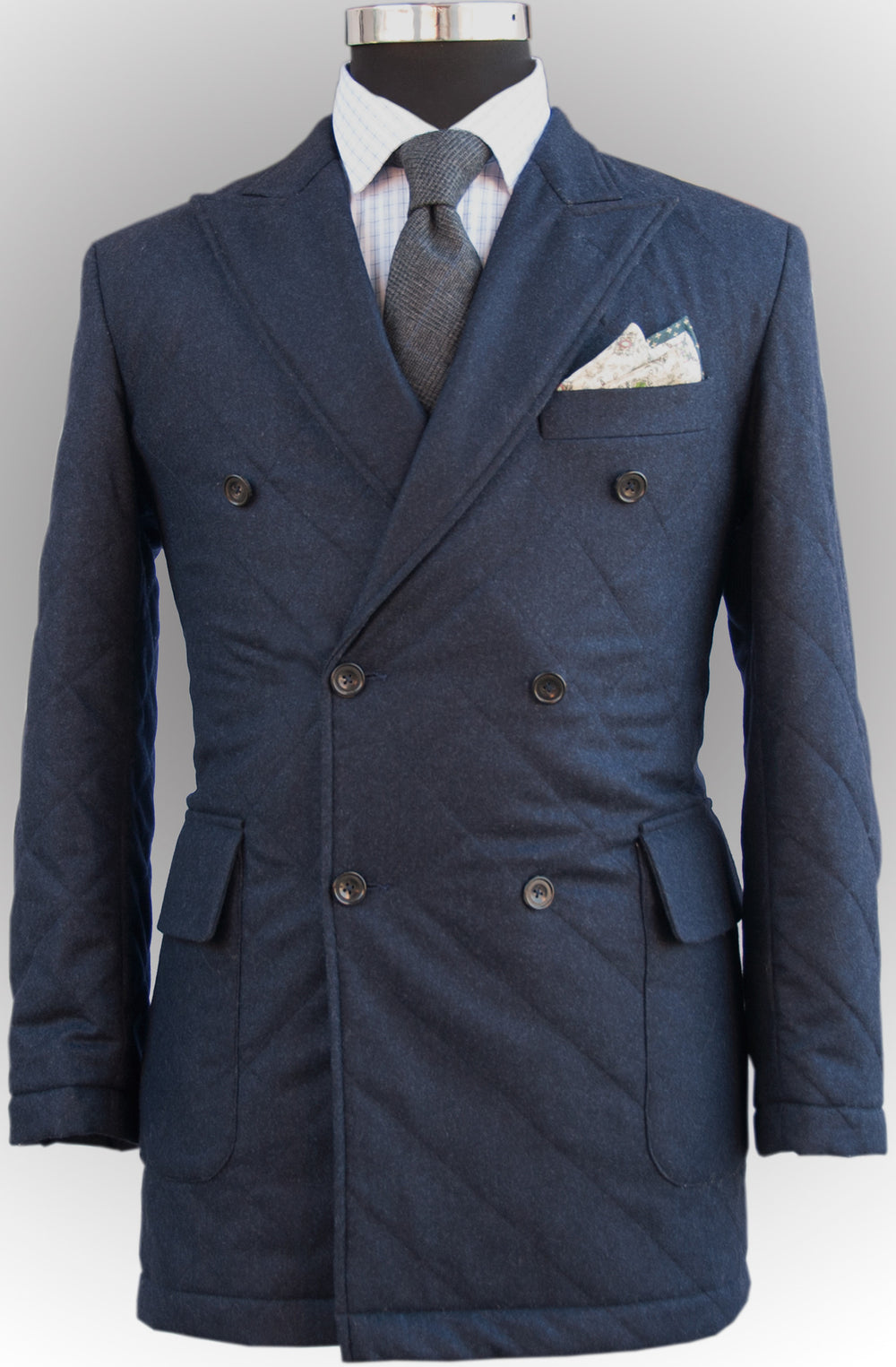 Luxire Double Breasted Quilted Sportcoat