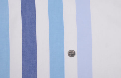 Wide Shades Of Blue Stripes