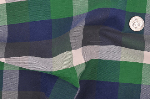 Twill: Green Navy Checks